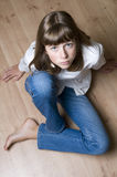 tonårs- flickastående arkivbild