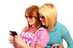 tonårs- flickor Fotografering för Bildbyråer