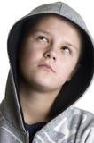 tonårs- fundersamt för pojke Royaltyfria Foton