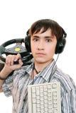 tonårs- gamers arkivbilder