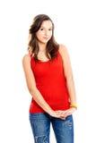 tonårs- härlig flicka royaltyfria foton