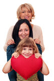 Tonårs- kvinna och liten flicka Arkivfoto