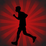 tonårs- löpare Arkivfoto