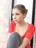 tonårs- lugna flicka Fotografering för Bildbyråer