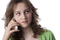 tonårs- mobil telefon Royaltyfria Bilder
