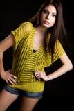 tonårs- modemodell arkivfoton