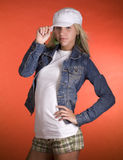 tonårs- modemodell Fotografering för Bildbyråer