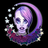 Tonårs- pastellfärgad Goth flicka Royaltyfri Foto