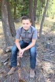 Tonårs- pojke fotografering för bildbyråer