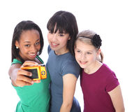 tonårs- rolig själv för flickafotografistående Royaltyfri Fotografi