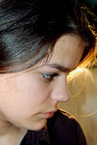tonårs- tryckt ned flicka Royaltyfria Bilder