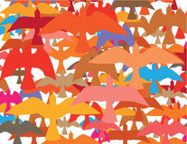 Ton of birds vector. Illustration clip-art eps file Royalty Free Stock Photos