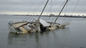 tonącego statku Zdjęcia Stock