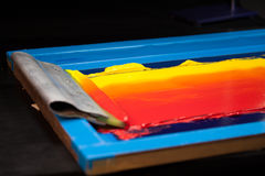 Ton chaud de couleur Images stock