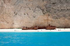 Tonący statek zdjęcia stock