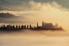 Tonący w mgle Zdjęcie Royalty Free