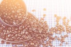 Ton de grain de café et de vintage Photo libre de droits