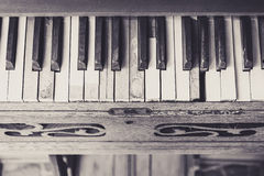 Ton de vintage de clavier de piano Photo stock