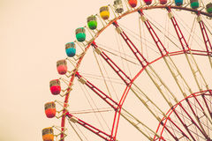 Ton de vintage de Ferris Wheel Image libre de droits