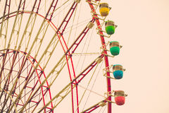 Ton de vintage de Ferris Wheel Photos stock