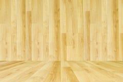 Ton en bois de crème de texture avec le plancher en bois Photographie stock libre de droits