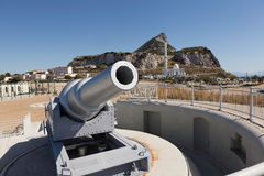 100-ton gun - Nelson's Anchorage Stock Photography