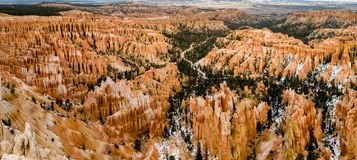 Bryce Point overlook panomara - Bryce Canyon royalty free stock photography