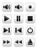 Ton-/Musiktasten eingestellt lizenzfreie abbildung