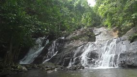 Ton Ngan Chang waterfall, Thailand. Clip stock video