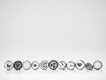 Ton noir et blanc Vous pouvez trouver la canne de sucrerie souriante de visage Photo stock