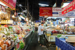 Ton Payom Market Kad Payom selling Food, fruit and clothes to the local region. Chiang Mai - September 13, 2016:Ton Payom Market Kad Payom selling Food, fruit Royalty Free Stock Photo