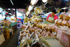Ton Payom Market Kad Payom selling Food, fruit and clothes to the local region, Chiang Mai Thailand Stock Image