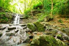 Ton Sai Waterfall. Is Sai. Waterfalls that have no water all year round in Namtok Sam Lan National Park Royalty Free Stock Image