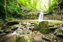 Ton Sai Waterfall. Is Sai. Waterfalls that have no water all year round in Namtok Sam Lan National Park Stock Photos