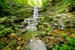 Ton Sai Waterfall. Is Sai. Waterfalls that have no water all year round in Namtok Sam Lan National Park Royalty Free Stock Photography