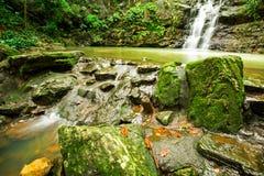 Ton Sai Waterfall. Is Sai. Waterfalls that have no water all year round in Namtok Sam Lan National Park Royalty Free Stock Images