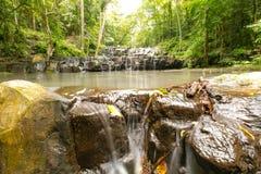 Ton Sai Waterfall. Is Sai. Waterfalls that have no water all year round in Namtok Sam Lan National Park Stock Photo