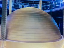 The 728 Tons Tuned Mass Damper of Taipei 101. The 728-Ton Tuned Mass Damper of Taipei 101. Taipei 101 is an iconic skyscraper located in the city of Taipei, in Stock Photo
