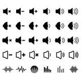 Ton-und Entzerrer-Ikone Stockbilder