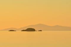 Ton von Rassay, Schottland-Meerblick Stockbild