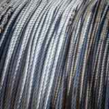Tonad abstrakt bild av spolen av fiskerepet på rulle Arkivfoton