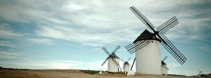 tonade den gammala spanjoren för bild windmills Royaltyfria Foton