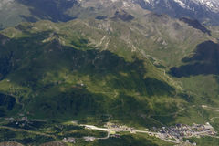 Tonale pass aerial summer view, Italy Stock Image