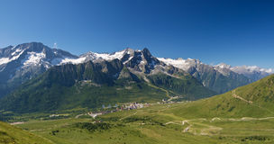 Tonale pass, panorama Stock Image