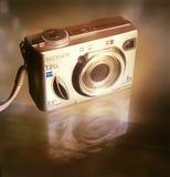 Tonalidad del oro de la cámara de Sony fotos de archivo