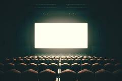 Tonalità in bianco dello schermo del cinema Immagine Stock Libera da Diritti