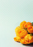 Tonalità della rosa di giallo del mazzo Immagine Stock Libera da Diritti