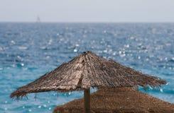 Tonalità della spiaggia della paglia Fotografie Stock