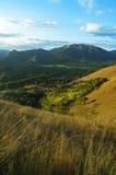 Tonalità di differenza di paesaggio della montagna di Coron di verde Fotografia Stock