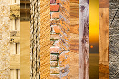 12 tonalità di marrone Fotografie Stock Libere da Diritti